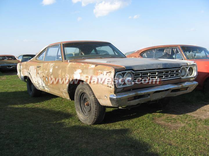 1968 Ember Gold Plymouth Road Runner
